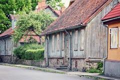 Casa de madeira velha Fotos de Stock