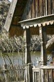 Casa de madeira velha foto de stock