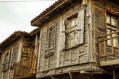 Casa de madeira velha em Sozopol Imagens de Stock