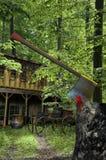 Casa nas madeiras ilustração stock