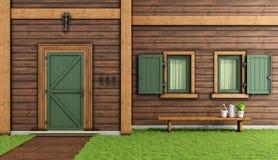Casa de madera ilustración del vector