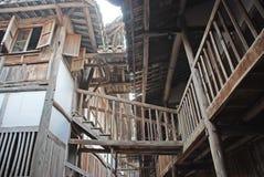 Casa de madera antigua en China Fotos de archivo