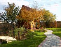 Casa de madera de la cabaña Imagen de archivo libre de regalías