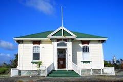 Casa de madera de la historia Foto de archivo