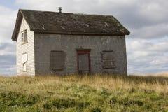 Casa de madera del abandono Fotos de archivo