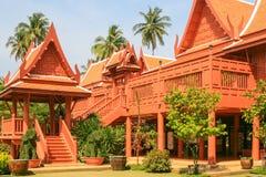 Casa de madera del estilo tailandés Fotografía de archivo libre de regalías