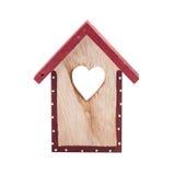 Casa de madera del pájaro de la decoración de la Navidad imágenes de archivo libres de regalías
