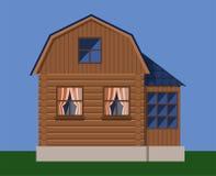 Casa de madera del país rústico libre illustration