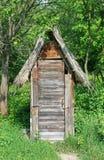 Casa de madera del retrete fotos de archivo libres de regalías