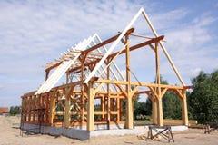 Casa de madera ecológica Fotografía de archivo libre de regalías