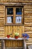 Casa de madera en Patagonia Fotos de archivo