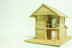 Casa de madera modelo Imagen de archivo
