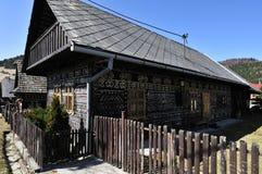 Casa de madera pintada Imagen de archivo