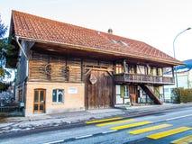 Casa de madera tradicional Imagen de archivo libre de regalías