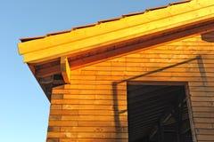 Casa de madera tres fotografía de archivo libre de regalías