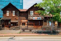 Casa de madera vieja coreana en el museo de Cheonggyecheon Fotografía de archivo