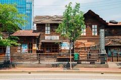 Casa de madera vieja coreana en el museo de Cheonggyecheon Fotografía de archivo libre de regalías