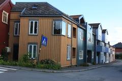 Casa de madera vieja en Strondheim Imágenes de archivo libres de regalías