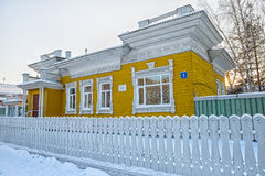 Casa de madera vieja en Vologda Foto de archivo