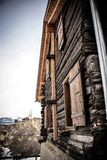 Casa de madera de Wanderfoul Imagenes de archivo