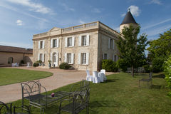 Casa de mansão velha em França foto de stock