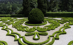 Casa de Mateus, Portugal. Beautiful garden of Casa de Mateus, Vila Real, Portugal royalty free stock photography
