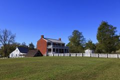 Casa de McLean em Appomattox Foto de Stock Royalty Free