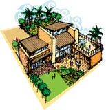 Casa de Mediterian ilustración del vector