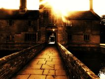 Casa de mirada fantasmagórica Foto de archivo