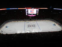 Casa de Montreal Canadá do Canadiens Habs que joga no centro de Bell do centro (após o jogo) fotos de stock royalty free