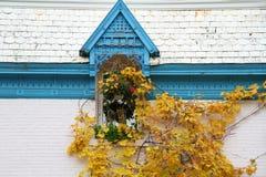 Casa de Montreal en otoño Fotografía de archivo