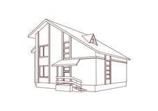 Casa de moradia. ilustração do vetor