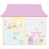 Casa de muñeca ilustración del vector