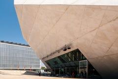 Casa de musica, Porto. Casa de musica, concert hall, by architect Rem Koolhaas, in Porto, Portugal royalty free stock photo