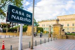 Casa de Narino, residência presidencial oficial em Bogotá, Colo Fotos de Stock Royalty Free
