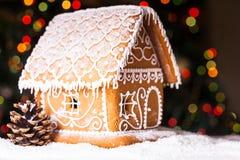 Casa de pão-de-espécie Imagem de Stock