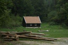 Casa de pão-de-espécie Fotografia de Stock