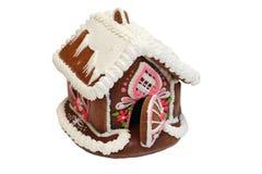 Casa de pão-de-espécie do Natal Fotografia de Stock Royalty Free