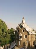 Casa de pão-de-espécie em Antonio Gaudi fotografia de stock