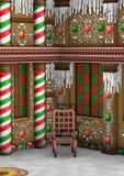 casa de pão-de-espécie do Natal da rendição 3D Fotografia de Stock Royalty Free