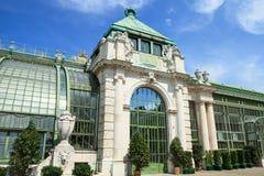 Casa de palma en Burggarten Imagen de archivo libre de regalías