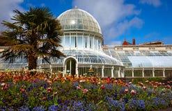 A casa de palma nos jardins botânicos Fotografia de Stock Royalty Free