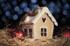 Casa de pan de jengibre Fotos de archivo libres de regalías