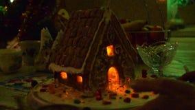 Casa de pan de jengibre almacen de video