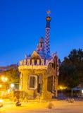 Casa de pan de jengibre de Guell del parque de Barcelona de Gaudi Fotos de archivo