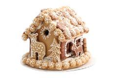Casa de pan de jengibre de la Navidad Imagen de archivo libre de regalías