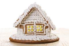 Casa de pan de jengibre de la Navidad Foto de archivo