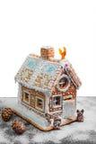 Casa de pan de jengibre de la Navidad Fotografía de archivo