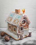 Casa de pan de jengibre de la Navidad Foto de archivo libre de regalías