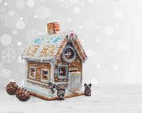 Casa de pan de jengibre de la Navidad Fotos de archivo libres de regalías